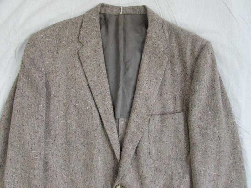 Vtg 50s Fleck Flecked Hollywood Blazer Sport Coat Jacket VLV Nubby Atomic Wool