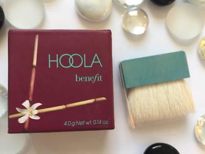BENEFIT Hoola Matte Bronzer Mini with Brush .14oz/4g Deluxe Travel Sz NEW in Box