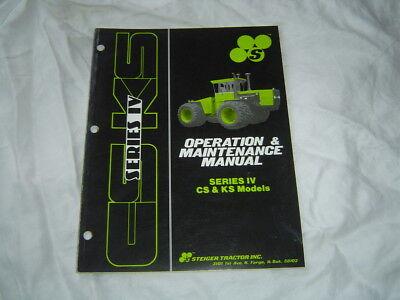 Steiger Cs Ks Series Iv Tractor Operators Operation Maintenance Service Manual