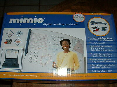 New Virtual Ink Mimio Digital Meeting Assistant Whiteboard Scanner