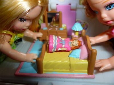 BARBIE KELLY DOLL SIZE TOY DOLLHOUSE BEDROOM FURNITURE BED ##1