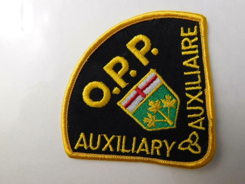 OPP POLICE ONTARIO PROVINCIAL AUXILLIARY OFFICER PATCH VINTAGE BADGE CANADA