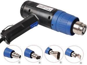 1500 Watt Dual Temperature Heat Gun Hot Air Wind Blower + 4 Nozzles Power Tool