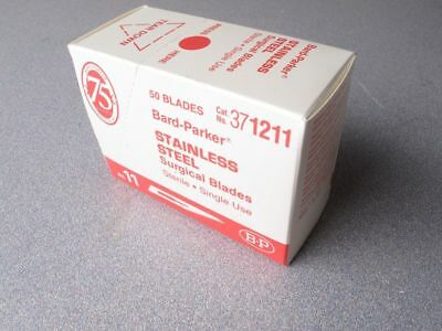 50 Bard-Parker 371211 Stainless Steel Surgical Blades, Sterile in Sealed Box #11 ()