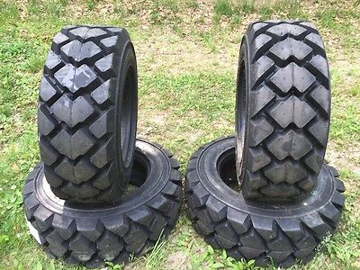 4 Galaxy Hulk L5 10-16.5 Skid Steer Tires For Bobcat More- 10x16.5 Heavy Duty