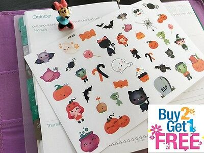 PP333 -- Kawaii Halloween Icons Planner Stickers for Erin Condren (40pcs) - Pp Halloween