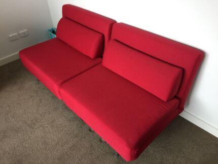 LE VELE REPLICA 2 seat sofa bed (retails for $999) Turrella Rockdale Area Preview
