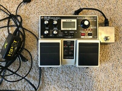 Boss DD-20 Delay Guitar Effect Pedal (+ tap pedal and 1Spot power supply)