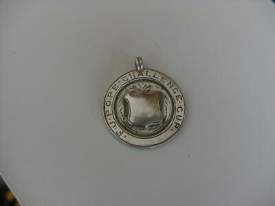 Solid Silver Albert Chain Fob Medal Birmingham 1927