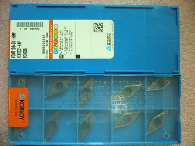 Qty 10x Korloy Vcmt332-hmp Vcmt160408-hmp Pc9030 For Stainless Steel New