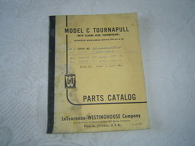 Letourneau Westinghouse C Tournapull Tractor Parts Catalog Manual