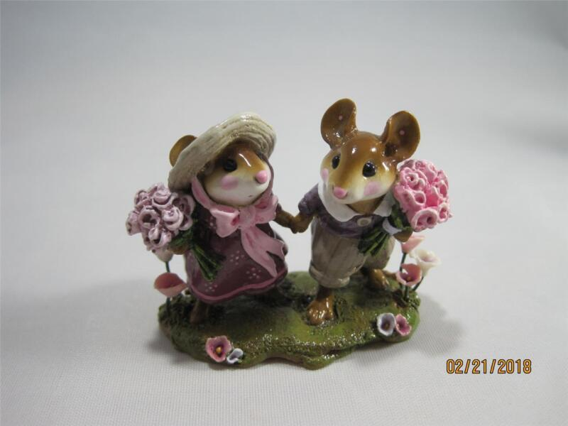 Wee Forest Folk Strolling Through the Seasons - Limited Edition - Spring Plum