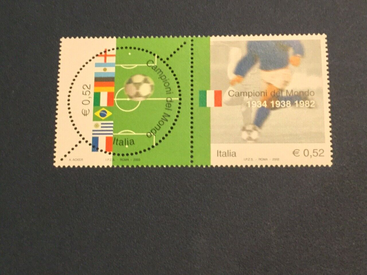 Italy Scott 2526 2002 World Cup Football World Champions Soccer MNH - $2.25