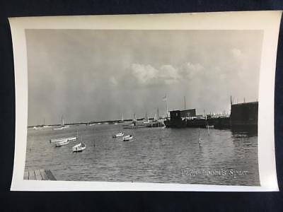 '37 From Nelson Ave Dock Great Kills Staten Island NYC Sail Boat Old Photo U169
