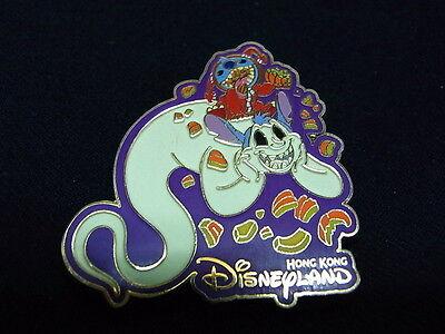 Walt Disney Pin HK Disneyland HKDL HALLOWEEN Pin Stitch Scrump Glows - Halloween Disneyland Hk