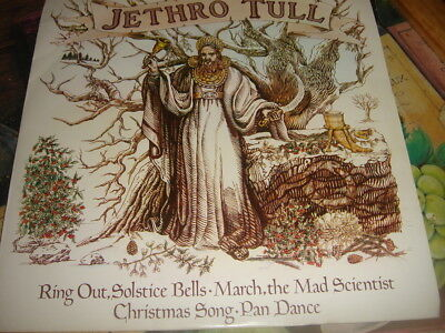 "Jethro Tull Ring Out Solstice Bells EP - P/S 7"" vinyl single record UK CXP2 ex++"