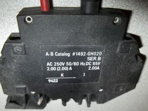 ALLEN BRADLEY 1492 High-density Circuit Breakers 1492-GH020, 2 Amp