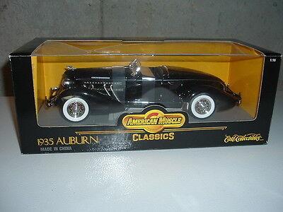 Ertl 1935 Auburn 851 Supercharged American Muscle 1:18 diecast Black NEW