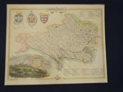 Reproduction Antique Map Dorsetshire 16 x 20 inches.