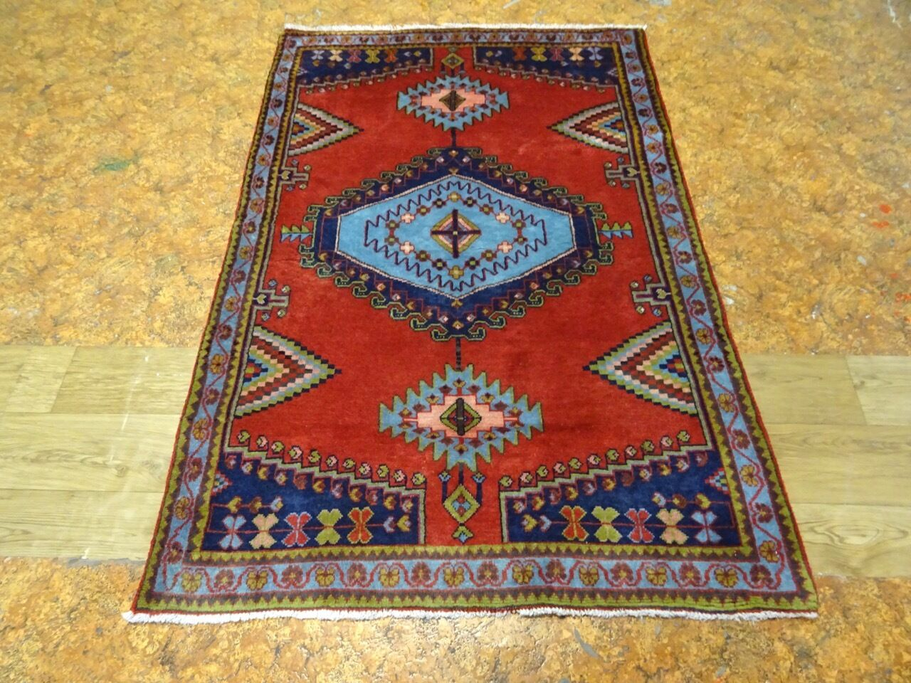 Superb C 1930 Antique Persian Sarouk Viss Exquisite Hand Made Rug S