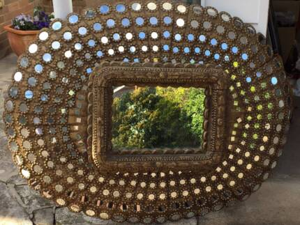Gilt Wood Peacock Mirror Pennant Hills Hornsby Area Preview