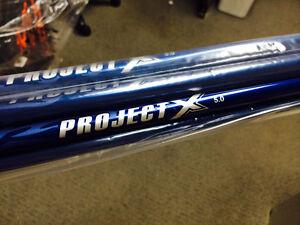 NEW Project X Graphite Iron Shafts 5.0 Senior Flex .370 Parallel (8pc)