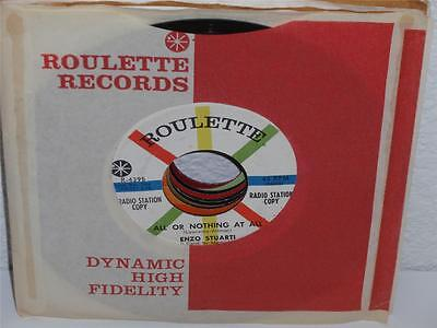 ENZO STUARTI I Run To Be With You/ All Or Nothing At All 45 Roulette 4395 PROMO - $5.99