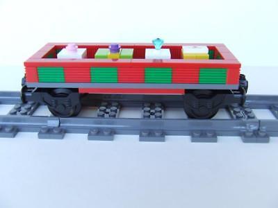 Custom Built With New Lego Bricks Holiday Christmas Tree Train fits 9V RC IR PF