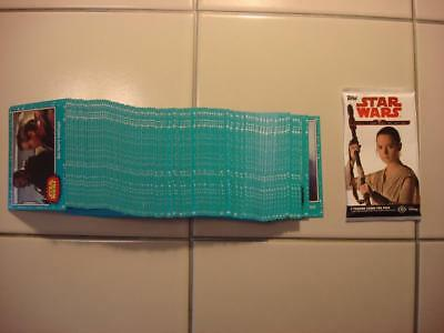 2017 Topps Star Wars Journey To The Last Jedi Complete Blue Base Set 110 Cards