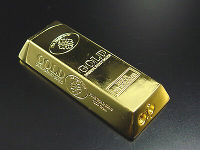 Luxus Goldbarren Feuerzeug Goldfarben Gasfeuerzeug, neu