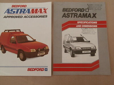 Bedford Astramax approved accessories/ Specification brochures 1985 Vauxhall van