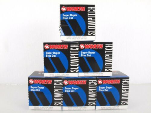 "Worth 12"" Slowpitch Softballs Lot of 6 Super Duper Blue Dot SD2BC Cor .47 Min"