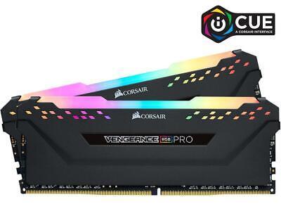 CORSAIR Vengeance RGB Pro 16GB (2x8GB) DDR4 3200 (PC4 25600) Desktop Memory BK