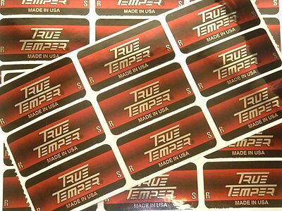 NEW ( 9 ) TRUE TEMPER GOLF CLUB SHAFT BAND LABELS STICKERS R/S