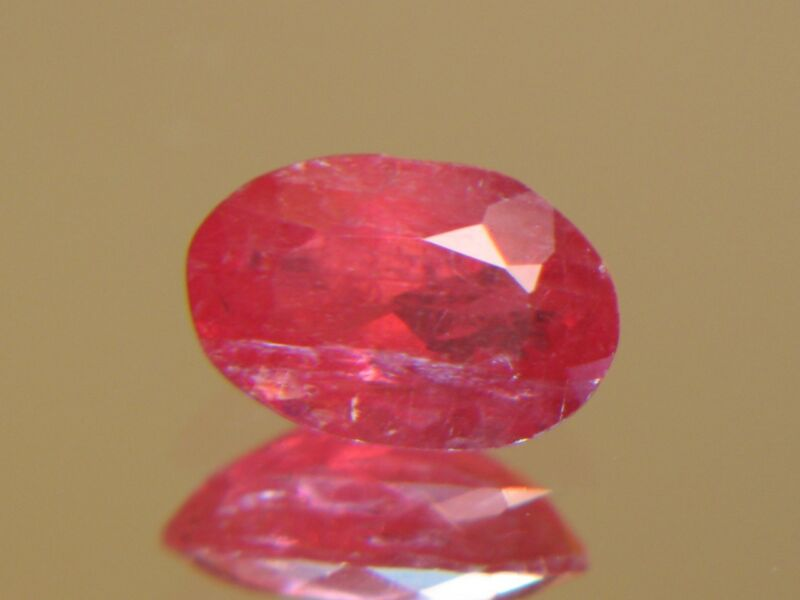 2.81CT XXRARE TRANSLUCENT FACETED BRAZILIAN RHODONITE