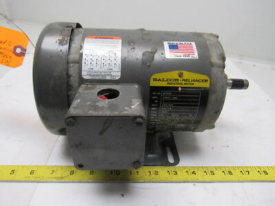 Baldor M3545 1hp Electric Motor 208-230460v 3ph 3450rpm 56 Frame
