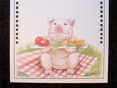 10 Picnic Pig Blank Invitation Stock 10 White Envelopes by Wild Hare - Picnic Invitation
