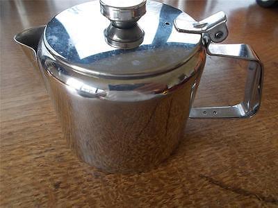 Vtg SUNNEX Retro Stainless Steel Teapot 1 pint B&B Catering Cafe Restaurant