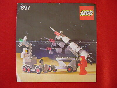 LEGO SPACE 897 MOBILE ROCKET LAUNCHER -100% COMPLETE VINTAGE SET 1979 (See items