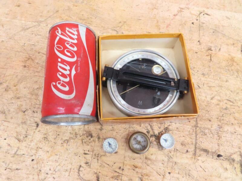 Vintage Compass Dietzgen 6689 Serveying Compass & Marbles Gladstone Brass