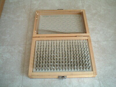 Model M-1 .061-.250 Minus 190 Pc. Precision Hole Gage Gauge Pin Set