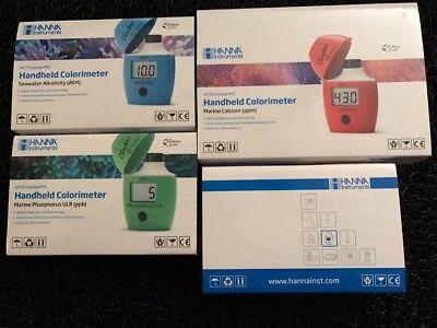 Hanna Checker Package Calcium DKH Alkalinity Low Phosphate Ultra low Phosphate