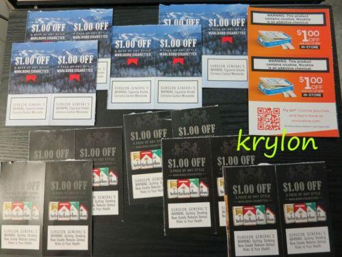 18X $1.00 Off SOME EXPIRED Marlboro Any Style Cigarettes + BONUS 2X On! Pouches
