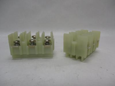 Lot Of 2 Unbranded 3-gang White Terminal Junction Block