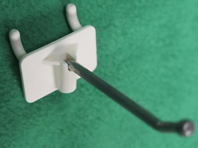 230 Pc 2 Peg Board Pegboard Peg Hook Slatwall Attached Back Retail Store Hanger