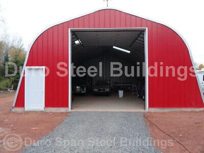 Durospan Steel 25x32x14 Metal Building Diy Workshop Garage Kit Open Ends Direct