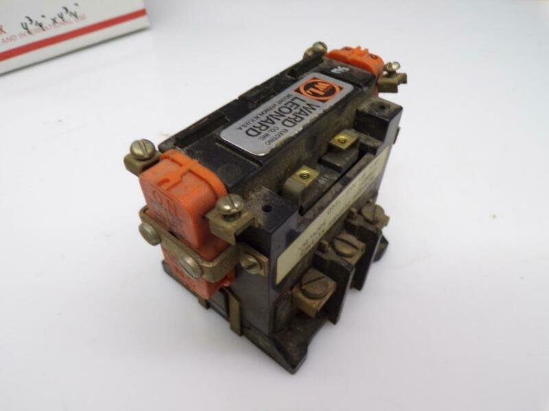 Used Ward Leonard Definite Purpose 40amp 500v.dc. 7001-7140 Contactor Relay E530