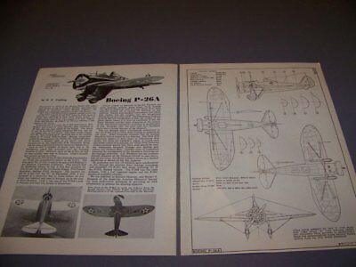 VINTAGE..BOEING P-26A PEASHOOTER ..4-VIEWS/DETAILS/COLORS..RARE! (601P), used for sale  Columbus