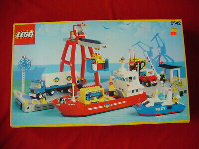 LEGO TOWN 6542 LAUNCH & LOAD SEAPORT - COMPLETE VINTAGE SET 1991 (see my items)