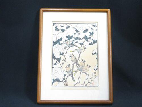 RARE TOSHI YOSHIDA Woodblock Print Mutsuki January Franklin Gallery Japan 11